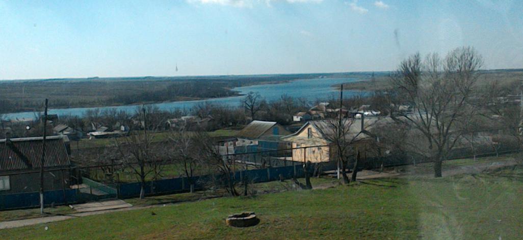 Панорама Чемарлыка с видом на реку Кальмиус. Весна 2015