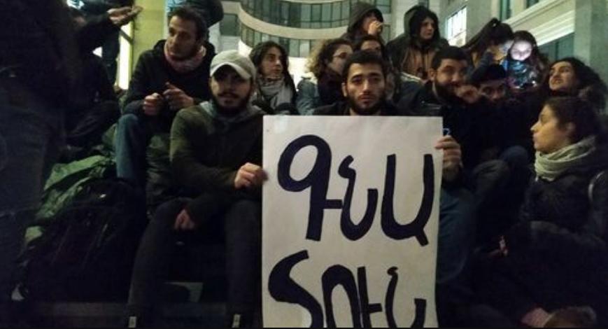 """Надпись на армянском языке: """"Иди домой!"""""""