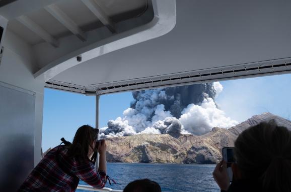 Извержение вулкана на острове Вайт