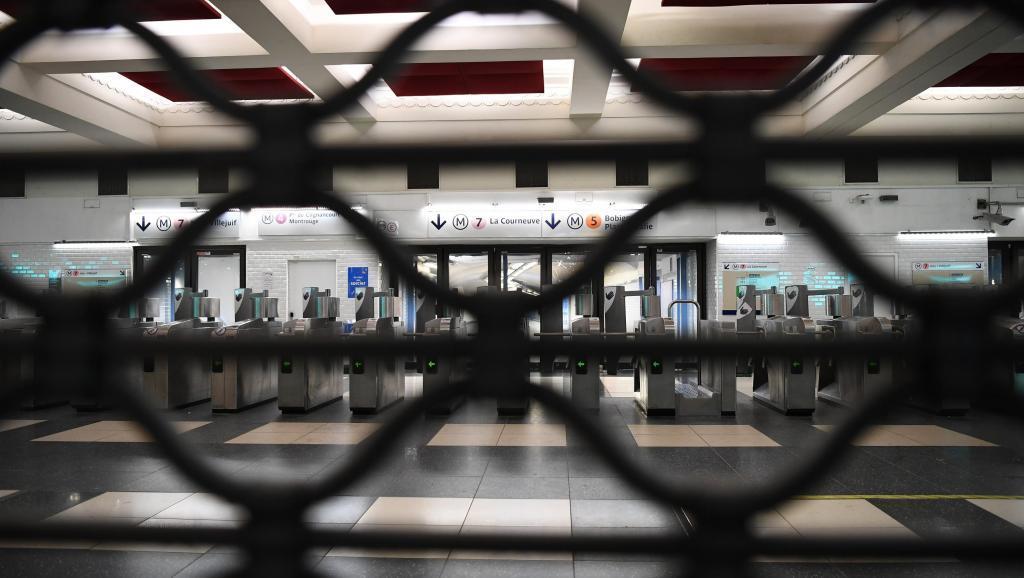 Зачинена станція паризького метро
