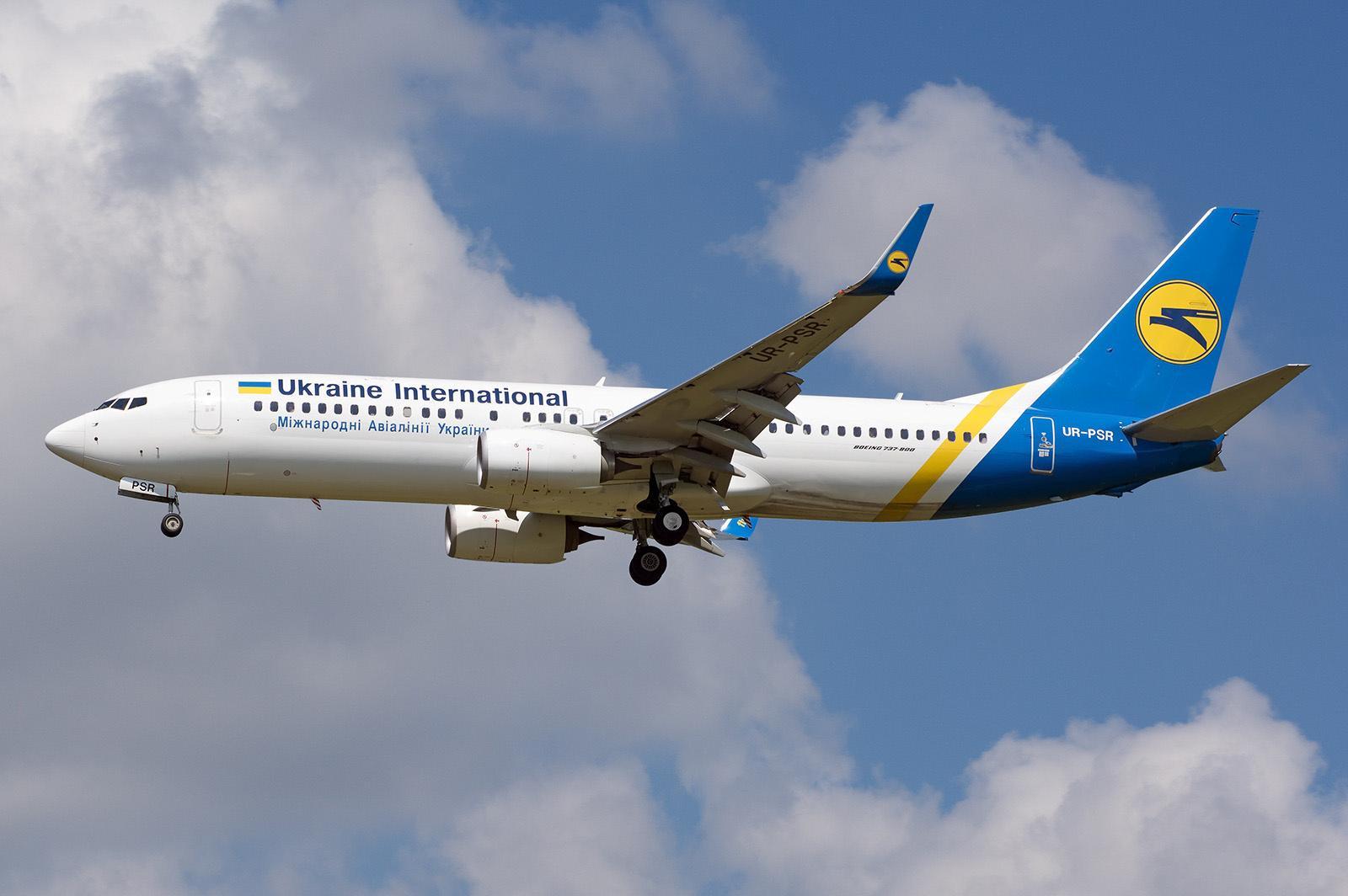 архівне фото літака Boeing 737-800 з реєстраційним номером UR-PSR, що розбився