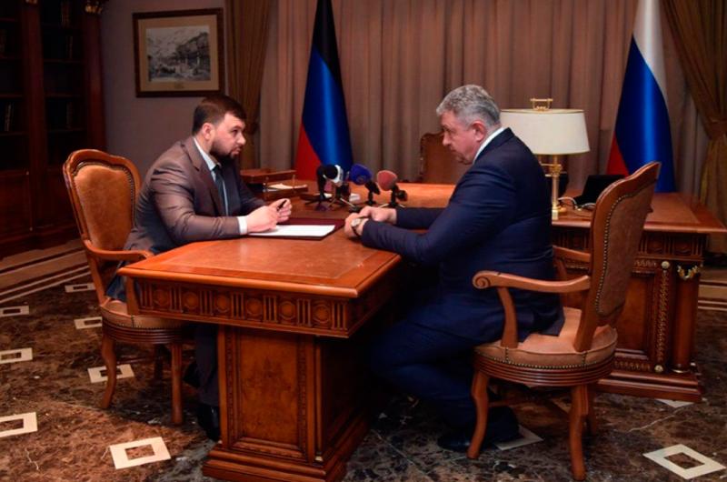 Денис Пушилін та Володимир Пашков