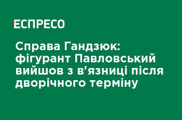 Справа Гандзюк: фігурант Павловський вийшов з в'язниці після дворічного терміну