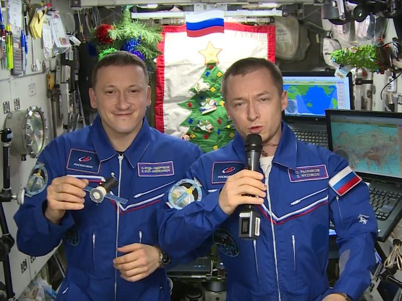 Сергій Рижиков та Сергій Кудь-Свєрчков, яких в космосі годують американці