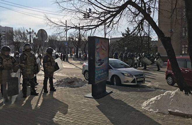 Хабаровск. Утро 31 января 2021 года