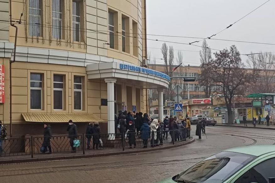 Центральная больница в оккупированному Донецке Зима 2021 года