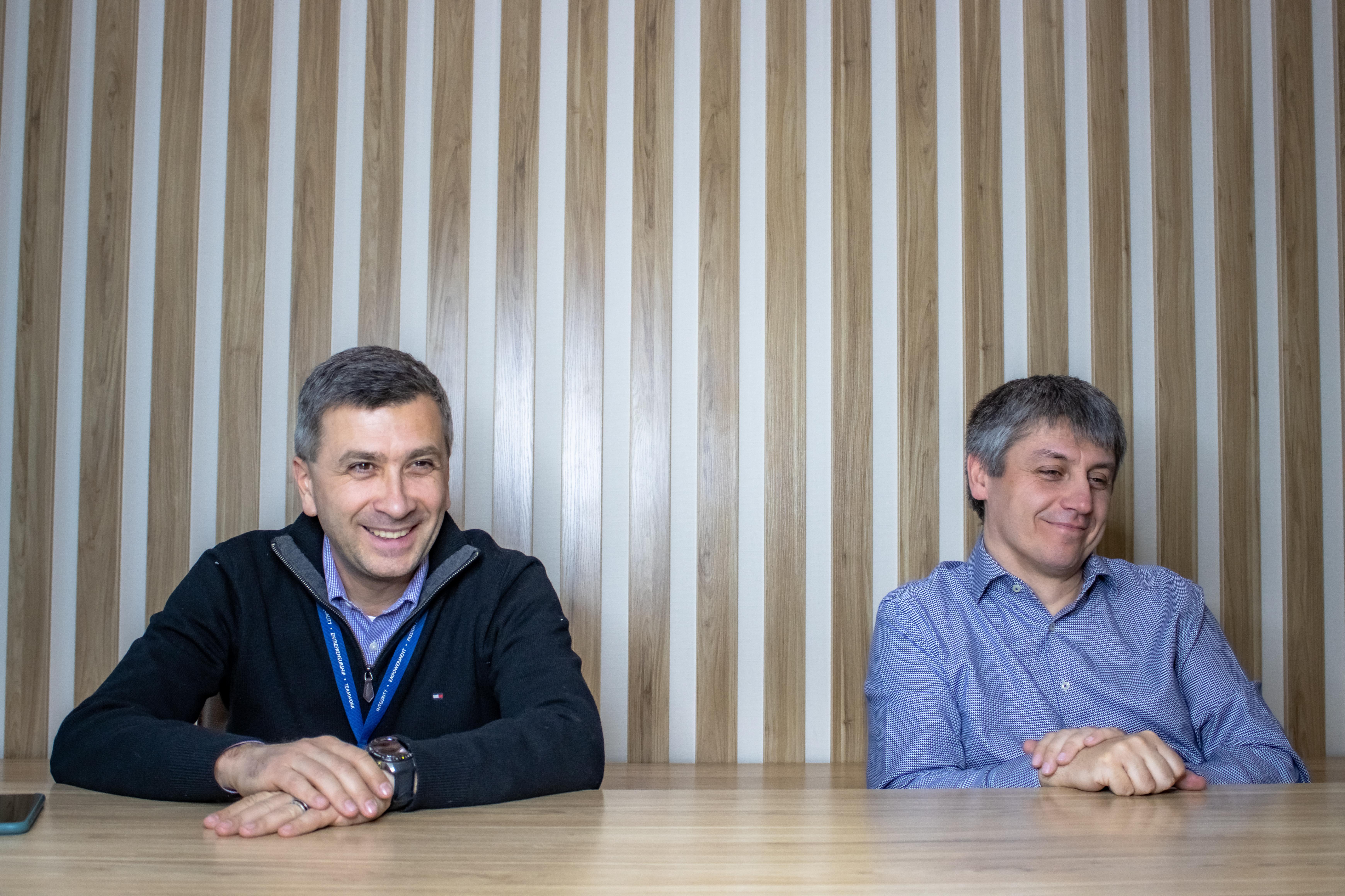 Микола Бутенко та Микола Скавронський (праворуч)