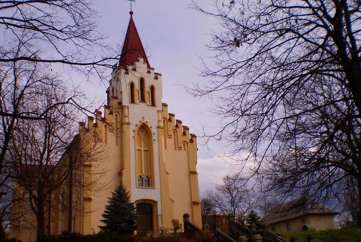 Один із символів міста Калуша - костел Cвятого Валентина