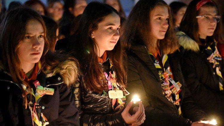 Минулорічні заходи, пов'язані з Вифлеємським вогнем миру, у Словенії