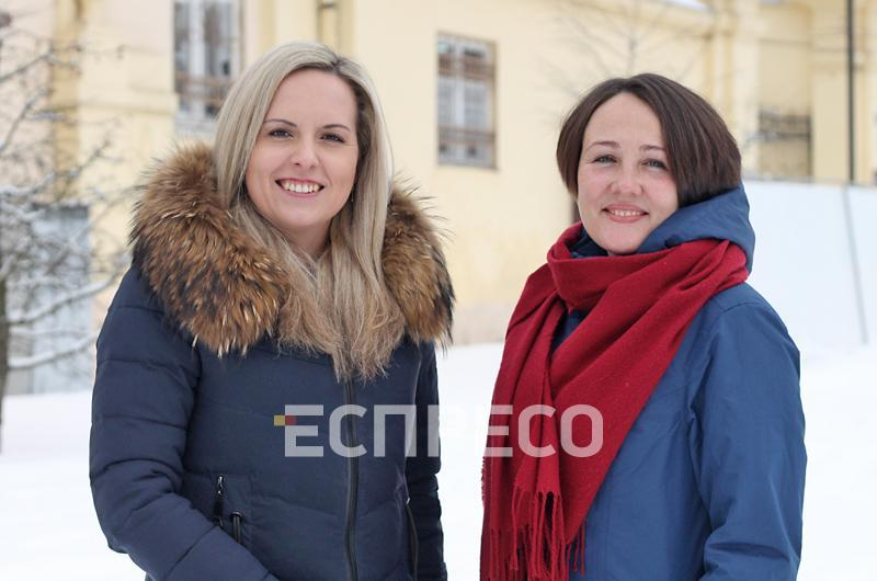 Оксана Штибель та Оксана Надулична