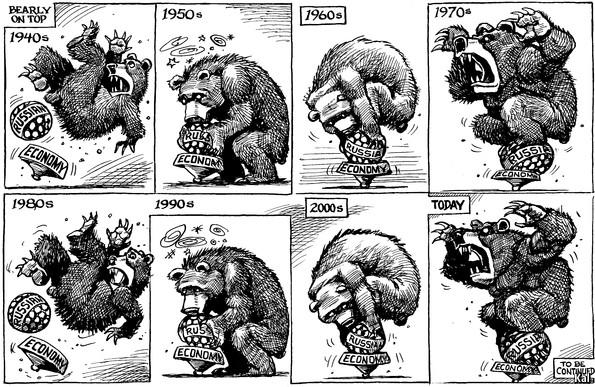 Росія у коміксах the economist: ведмідь геть