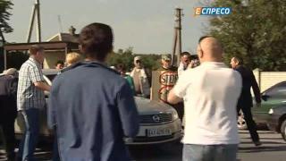 На Харьковщине люди перекрыли дорогу