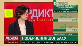 Сироїд назвала сценарій повернення окупованого Донбасу