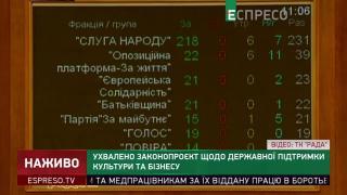 Рада проголосувала в другому читанні закон про підтримку креативних індустрій