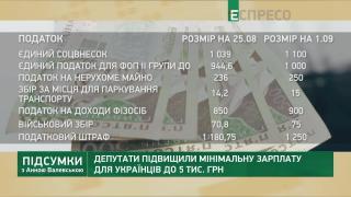 Нова мінімалка, дефіцит бюджету та прожитковий мінімум | Підсумки з Анною Валевською
