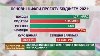 Держбюджет 2021, тіньова економіка, Нафтогаз | Еспресо капітал